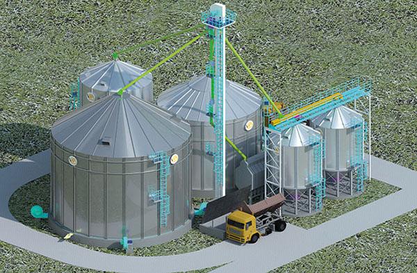 Технологическая схема элеватора для хранения зерна двигатель у фольксваген транспортер